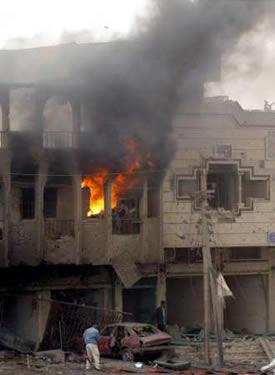 Houses in Baghdad Burns
