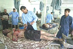 Wounded Iraqi soldiers
