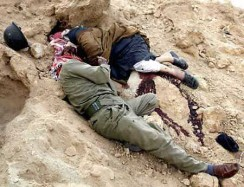 bodies of two dead Iraqis