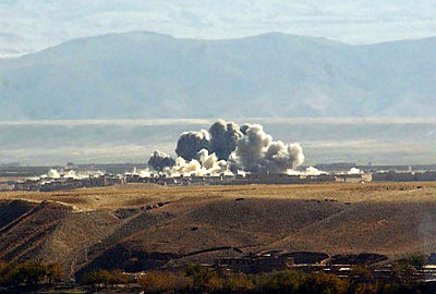 U.S. heavy bombers obliterated the village of Khan Aqa in Kapisa province